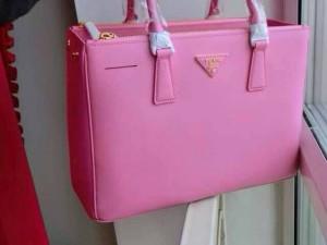 PRADA Pink Sheep Skin Lady Hand bags