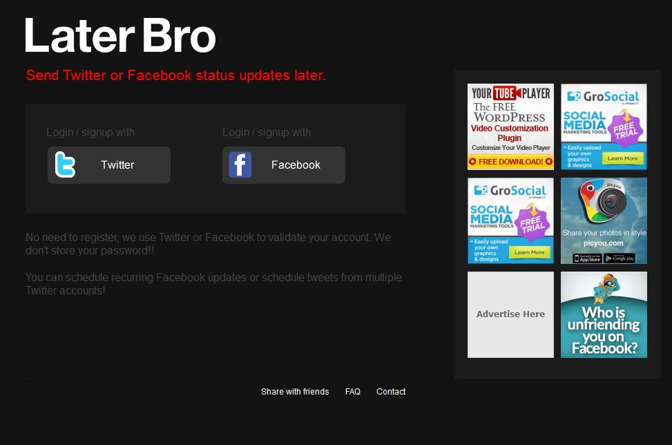 How To Schedule Status Updates on Facebook By Later Bro