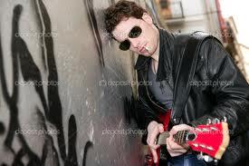 Boy's Dp Boy Playing Guitar And Smoking